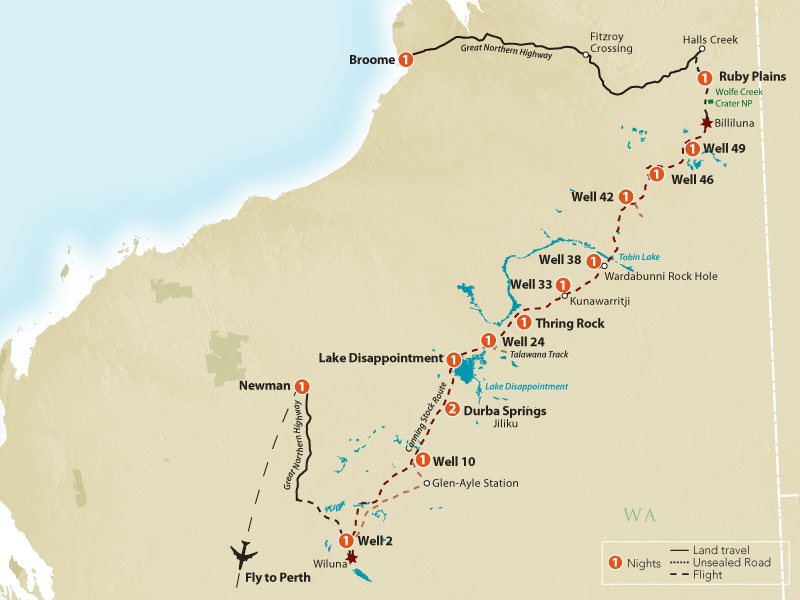 The Canning Stock Route - Australia - CSR Map